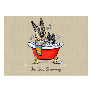 Dog Groomer Fancy Claw Foot Tub Organic Large Business Cards (Pack Of 100)