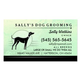 Dog Groomer Mint Green & Black Business Card