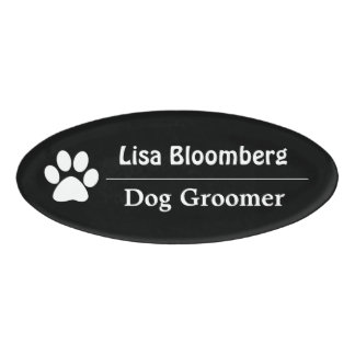 Dog Groomer Name Tag Personalized