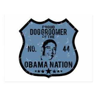 Dog Groomer Obama Nation Postcard