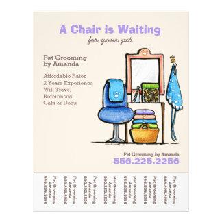 Dog Groomer Pet Salon Chair Waiting Tear Sheet