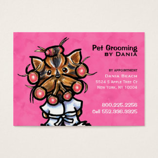 Dog Groomer Pet Spa Business Pretty Pink Business Card