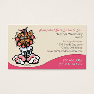 Dog Groomer Pet Spa Business Yorkie Business Card