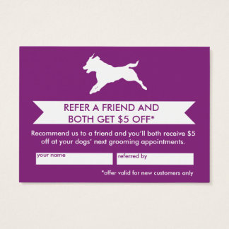 Dog Groomer Referral Card - Personalizable