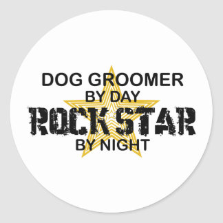 Dog Groomer Rock Star Classic Round Sticker
