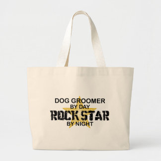 Dog Groomer Rock Star Large Tote Bag