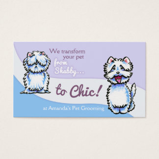 Dog Groomer Shabby Chic Westie Business Card
