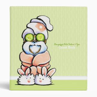 Dog Groomer Spa Guest Book Shih Tzu Cucumber Binder