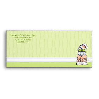 Dog Groomer Spa Robed Shih Tzu Cucumber #10 Envelopes