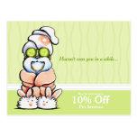 Dog Groomer Spa Shih Tzu Cucumber Coupon Mailer Postcard