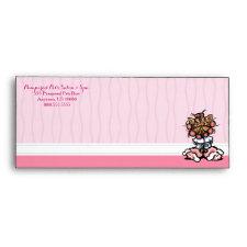 Dog Groomer Spa Yorkie Pink #10 Envelope