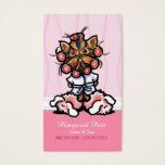 Dog Groomer Spa Yorkie Pink Appointment Business Card