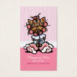 Dog Groomer Spa Yorkie Pink Business Card