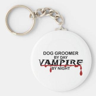 Dog Groomer Vampire by Night Basic Round Button Keychain