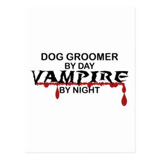 Dog Groomer Vampire by Night Postcard