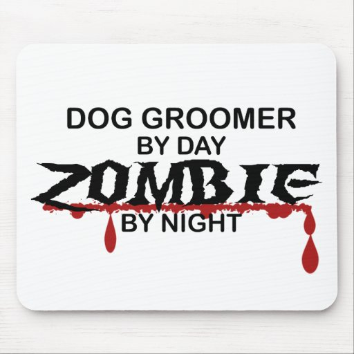 Dog Groomer Zombie Mouse Pad