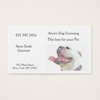 Dog Groomers BUSINESS CARD (pet business)