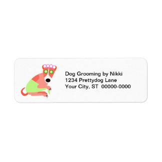 Dog Groomer's Return Address Labels