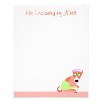 Dog Groomer's Small Notepaper Flyer