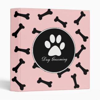 Dog Grooming 1 Inch Ring Binder