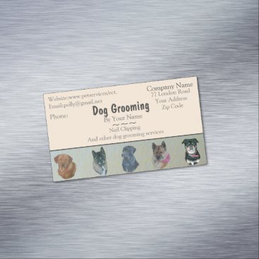 dog Grooming and pet care services appointment Business Card Magnet