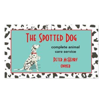 Dalmationa Dog Business Card