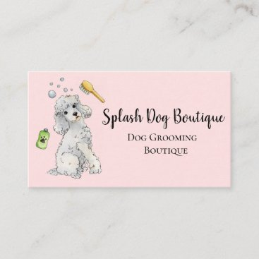 Dog  Grooming Boutique pretty pink Business C Business Card