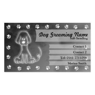 Dog Grooming Business Card [grey]