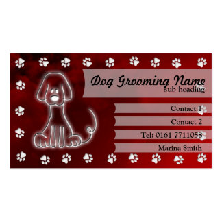 Dog Grooming Business Card [red]
