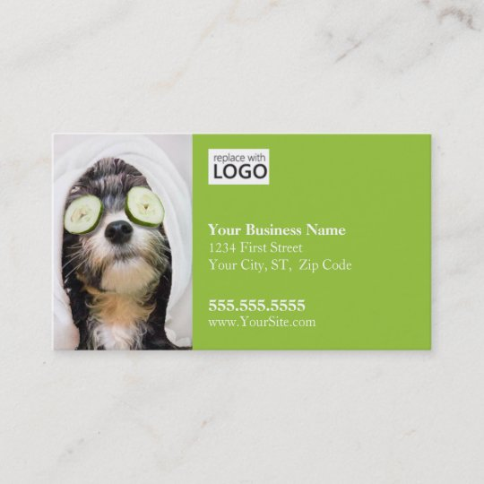 dog grooming business card spa2 business card - Dog Grooming Business Cards