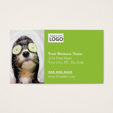 Professional Business Dog Grooming Business Card-Spa2 Business Card
