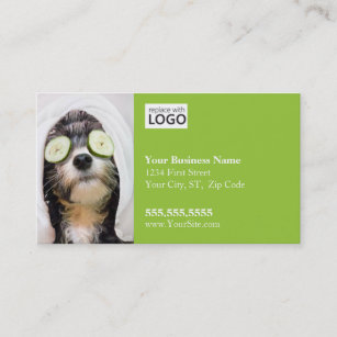Dog grooming business cards zazzle dog grooming business card spa2 business card colourmoves