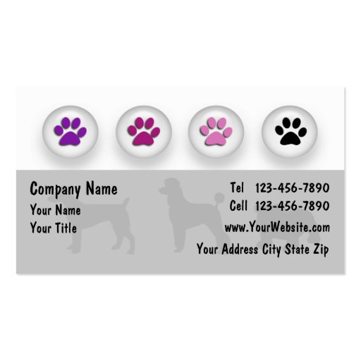 Dog grooming business cards zazzle for Pet grooming business cards