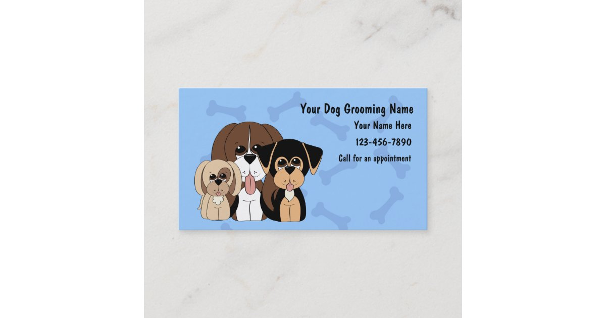 Dog Grooming Business Cards | Zazzle.com
