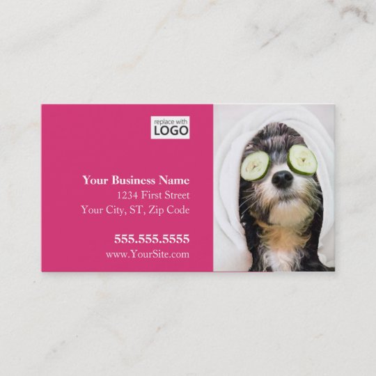 Dog grooming business cards spa design zazzle dog grooming business cards spa design colourmoves