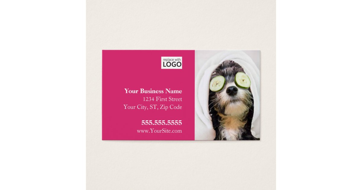 Dog Grooming Business Cards - Spa Design | Zazzle.com