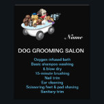 """Dog grooming business personalized flyer<br><div class=""""desc"""">personalized flyer</div>"""