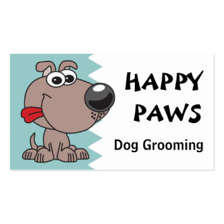 Dog Grooming, Clipping or Walking Double-Sided Standard Business Cards (Pack Of 100)