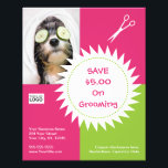 """Dog grooming coupon flyer<br><div class=""""desc"""">Personalize this dog grooming coupon flyer. Matching pieces available in our store.</div>"""