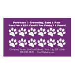 Dog Grooming Customer Loyalty Card Business Card Template