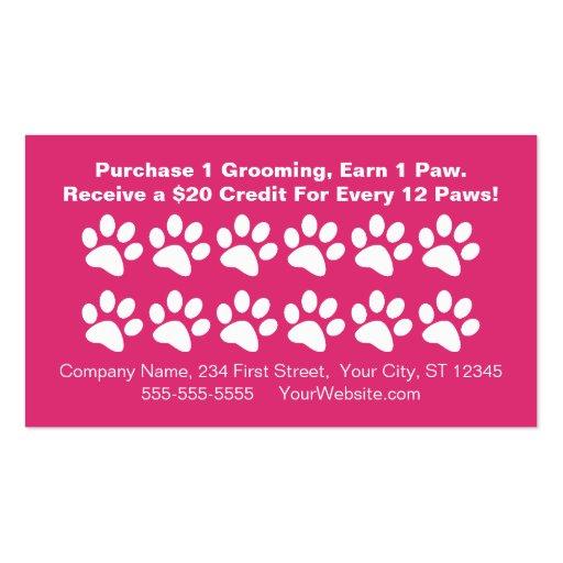 dog grooming customer rewards card loyalty card business card template - Dog Grooming Business Cards