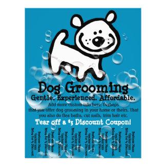 Dog Grooming. Customizable Promotional Tear sheet