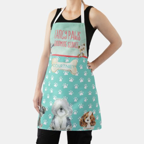 Dog Grooming Dog Spa Personalized Apron