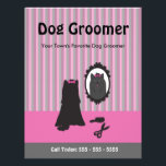 """Dog Grooming Flyer - Can Be Personalized, Custom<br><div class=""""desc"""">Promote your Dog Grooming Business with this elegant double sided flyer. We&#39;ve done all the work for you so all you need to do is add your own business name and contact details.</div>"""