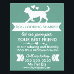 """Dog Grooming Flyer - Personalizable<br><div class=""""desc"""">Use this flyer to promote your dog grooming business. The text in the template currently reads &quot;dog need a bath? Let us pamper your best friend in our relaxing and friendly dog spa and grooming salon&quot; - but you can change this text into ANYTHING you want! Simply click the CUSTOMIZE...</div>"""