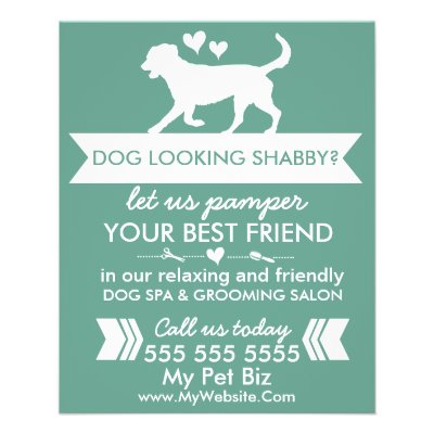 Dog Groomingt Groomer2 For 1stomizable Flyer Zazzle