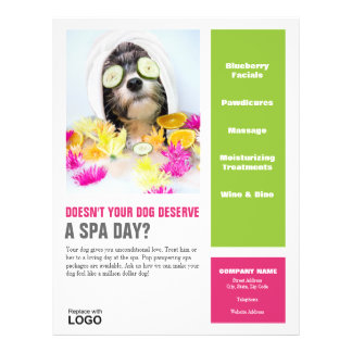 Dog Grooming Flyer-Spa
