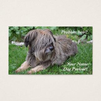 Dog grooming hairy sheepdog business card