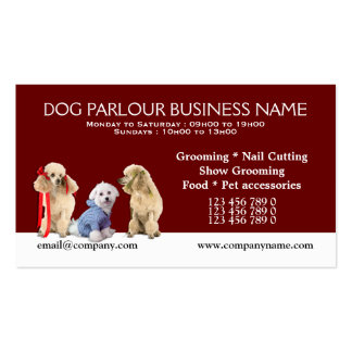 Dog grooming pet care PERSONALIZE Business Card Templates
