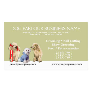 Dog grooming pet care PERSONALIZE Business Cards